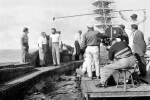 Fleischer on the set of 20,000 Leagues under the Sea